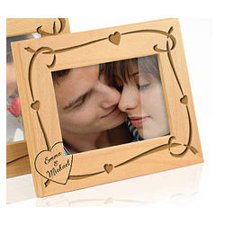 Personalized Ribbons of Love Wooden Frame