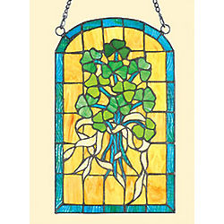 Stained Glass Shamrock Window Suncatcher