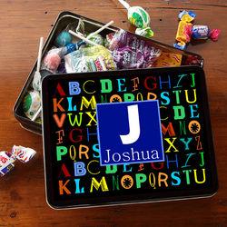 Alphabet Fun Personalized Gift Tin