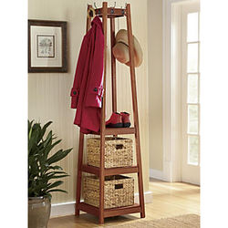 Coat Rack With Storage Baskets