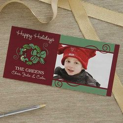 Personalized Wreath Postcards with Photo