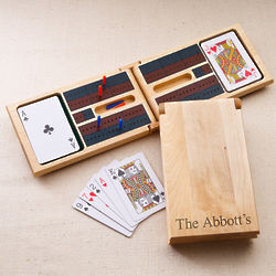 Personalized Wood Cribbage Game Set