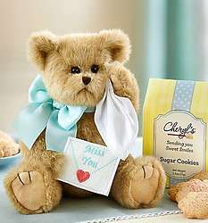 Bearington Beary Blue Miss You Bear with Cookies