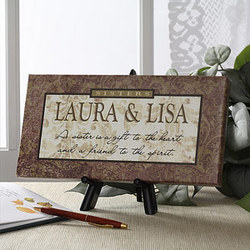 The Gift of Sisters Canvas Art with 2 Names