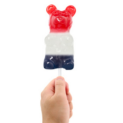 Patriotic Gummy Bear On A Stick