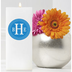 Personalized Square Chic Circles Colore Bliss Friendship Candle