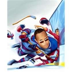 Checking Hockey Caricature Art Print