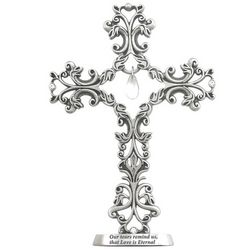 Filigree Crystal Tear Drop Memorial Standing Cross