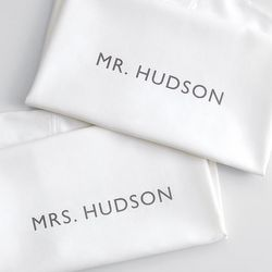 Personalized Mr. and Mrs. Pillowcases