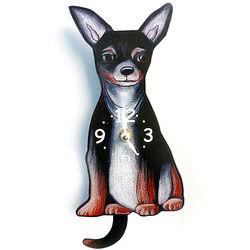 Tail Wagging Chihuahua Pendulum Clock
