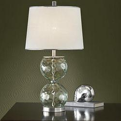 Double Bubble Bottle Glass Lamp
