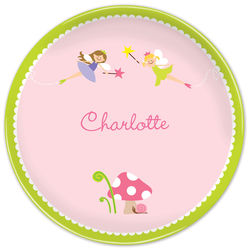 Girl's Personalized Fairy Plate