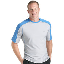 Men's Short Sleeve Cool Fitness Crewneck Shirt