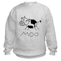 Moo Cow Kid's Sweatshirt