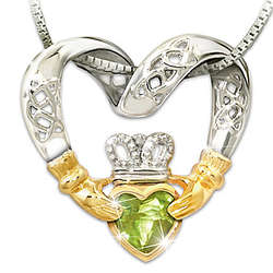 Celtic Knot and Claddagh Necklace