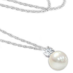 Precious Granddaughter's Personalized Cultured Pearl Necklace