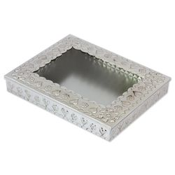 Love of My Life Tin and Glass Decorative Box