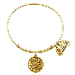 Wind and Fire You Are My Sunshine Gold Bangle Bracelet