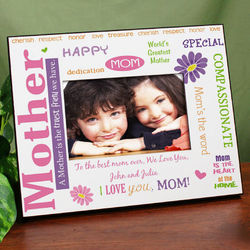 Mom, My Truest Friend Personalized Printed Frame