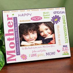 Mom, My Truest Friend Personalized Printed Frame