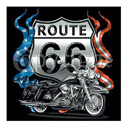 Route 66 Motorcycle T-Shirt
