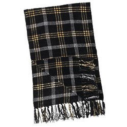 Chenille Plaid Scarf