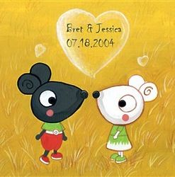 Personalized Mice Sweethearts Art Print
