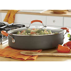 Rachael Ray Hard-Anodized Oval Saute Pan
