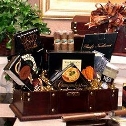 Gentleman's Cigar and Gourmet Treats Gift Chest