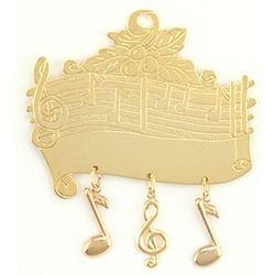 Personalized Musical Score Ornament