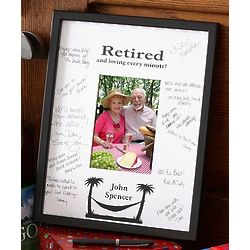 Personalized Retirement Signature Mat Frame
