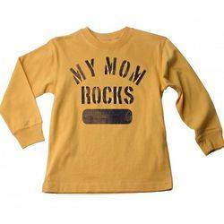 My Mom Rocks Long Sleeve Junior T-Shirt