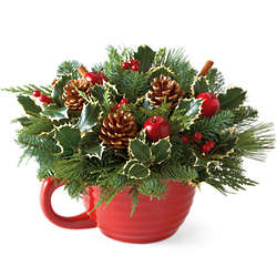 Evergreen Batter Bowl Centerpiece