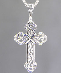 Luminous Faith Sterling Silver Cross Necklace