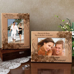 Personalized Honeymoon in Hawaii Wooden Picture Frame