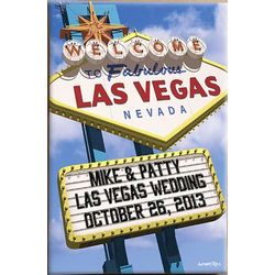 Welcome to Las Vegas 16x24 Personalized Canvas Wall Art
