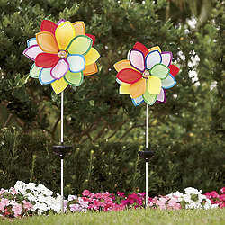 Solar Powered Lighted Pinwheels