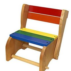 Rainbow Colored Step Stool