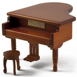 Baby Grand Piano with Stool Music Box