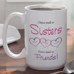 My Sister, My Friend Personalized 15-Ounce Coffee Mug