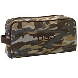 Canvas Camo Toiletry Bag