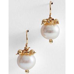 Small Pearl Stardust Cluster Earrings