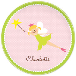 Girl's Personalized Fairy Portrait Plate