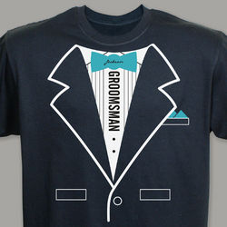 Personalized Wedding Party Tuxedo T-Shirt