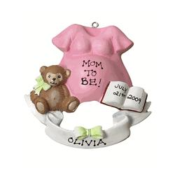 Mom To Be Personalized Expecting Christmas Ornament