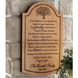 Personalized Family Tree Wood Plaque Findgift Com
