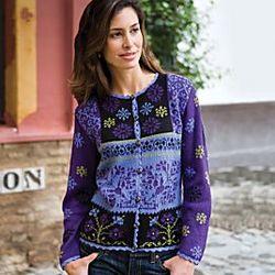 Violet Peruvian Alpaca Sweater