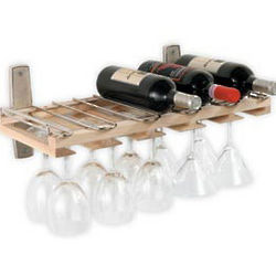 Wall Mount Wine Bottle and Stemware Rack
