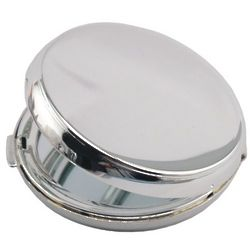 Personalized Hinged Compact Mirror
