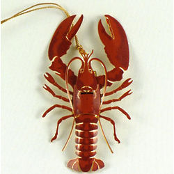 Brass Lobster Ornament